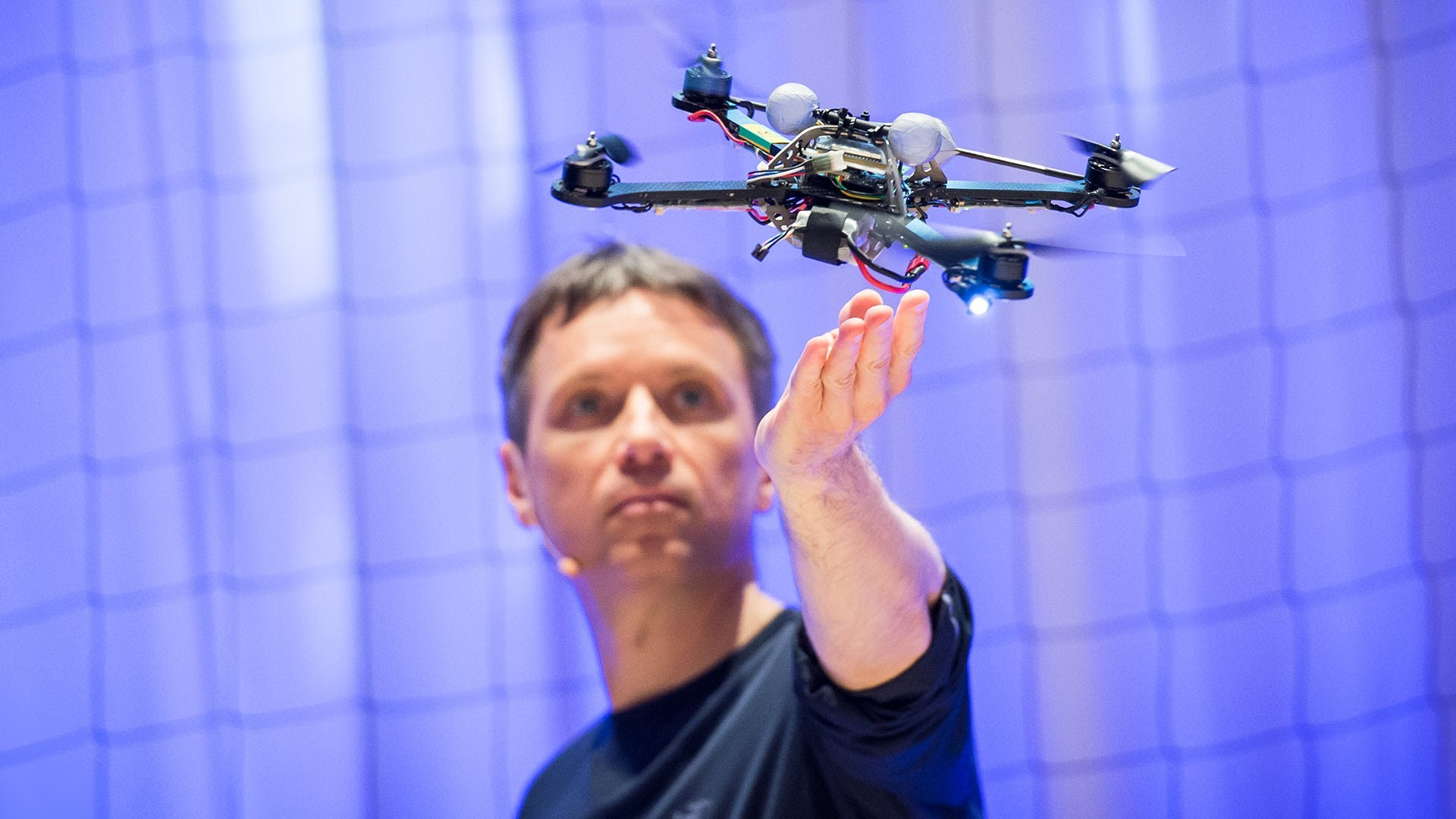 The athletic power of quadcopters