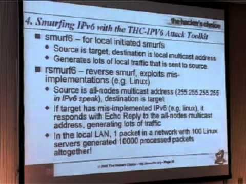 22C3: Attacking the IPv6 protocol suite