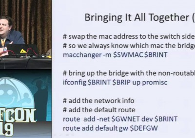 DEF CON 19: Defeating wired 802.1x with a transparent bridge using Linux