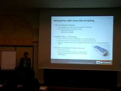 DeepSec 2007: Browser hijacking
