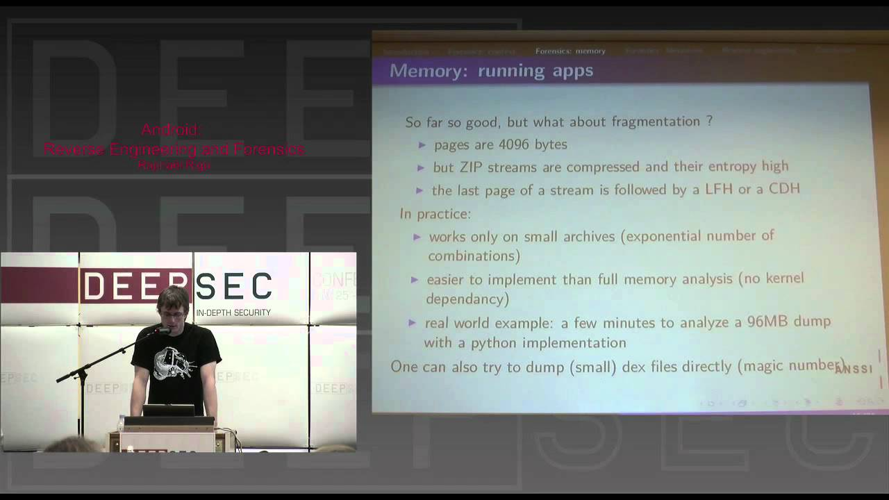 DeepSec 2010: Android reverse engineering and forensics