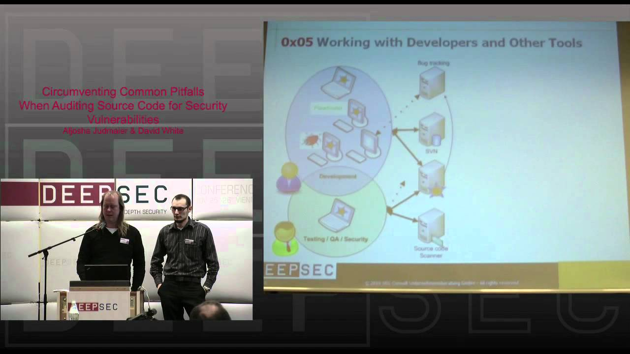 DeepSec 2010: Circumventing common Pitfalls when auditing sourcecode for security vulnerabilities