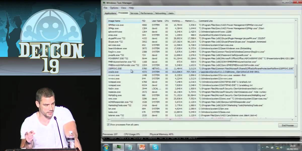 DEF CON 19: Hacking and forensicating an Oracle database server